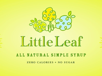 Little Leaf Simple Syrup Packaging Label identity icon typography layout illustration design