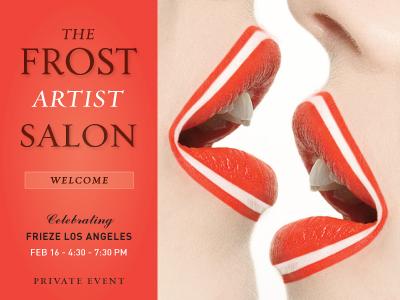 Frost Artist Salon Exhibit curate typography photograhy design art