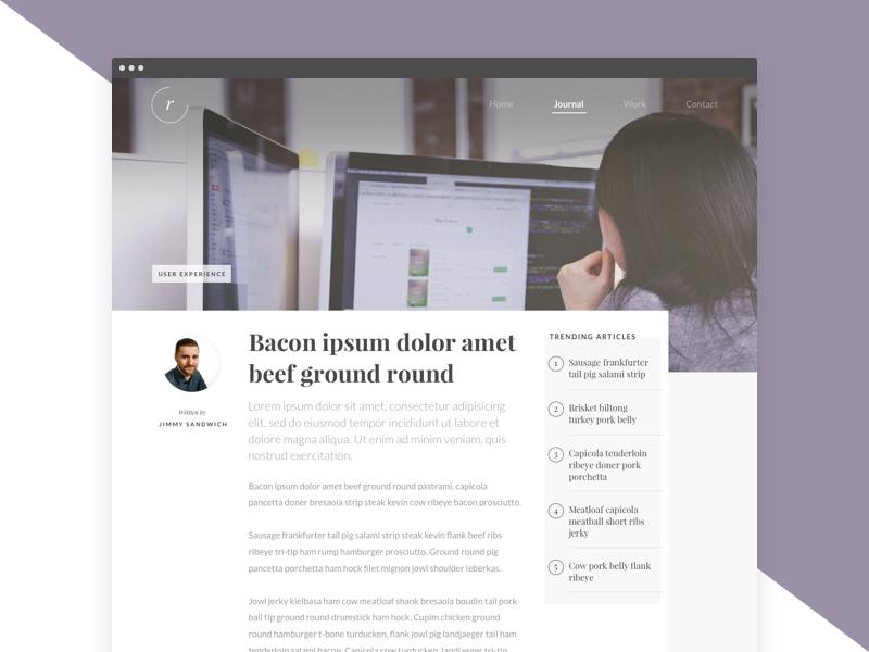 readr blog article layout desktop by ben low dribbble dribbble