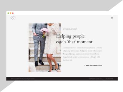 Case study splash screen agency minimal subtle template page study case
