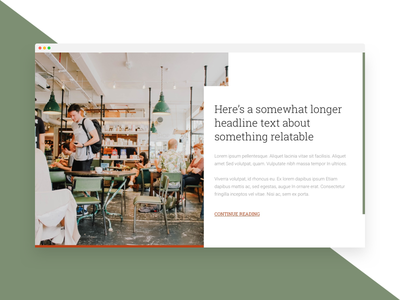 Cafe case study card slab-serif roboto commercial desktop study case restaurant coffee cafe