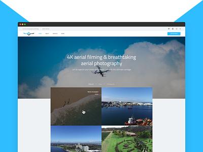 Aerial Vantage Website portfolio development design website responsive videography photography drones vantage aerial drone