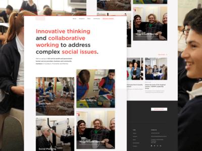 Imagined Futures - Homepage exploration not-for-profit gotham desktop responsive homepage exploration design ux ui