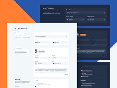 Dashboard complex form - Dark mode practice dark ux sketch ui desktop web design profile page dashboard ui user profile profile dashboard dark mode