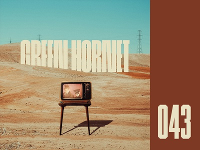Everyday - 043 surreal landscape retro tv green hornet everydays