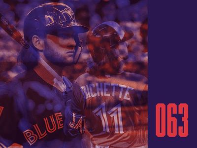 Everyday - 063 overprint overlay baseball mlb bichette blue jays everyday