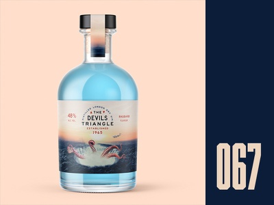 Everyday - 067 mystery giant squid bermuda triangle alcohol packaging gin everyday