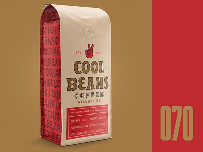 Everyday - 070 typography coffee roasters cool beans packaging coffee everyday