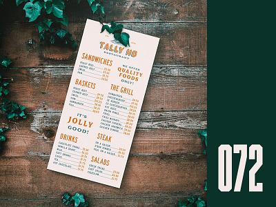 Everyday - 072 menu card everyday restaurant menu menu design