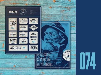 Everyday - 074 fresh fish fish market menu card fishermen fish and chips menu seafood everyday