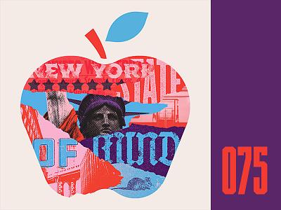 Everyday - 075 bridge liberty true grit texture apple big apple new york collage everyday