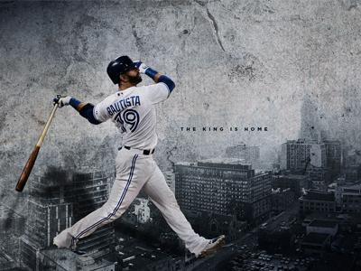 Bautista giant desaturated grunge buildings baseball mlb toronto blue jays