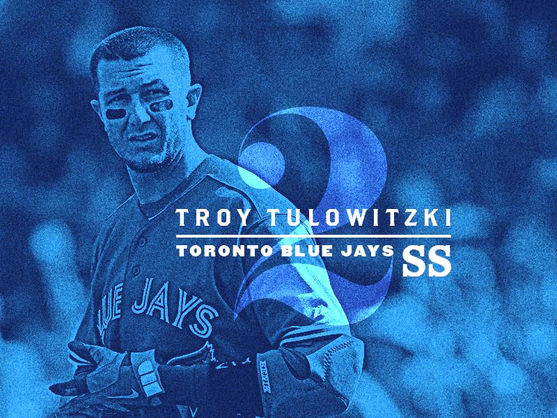 Tulo - Type 39 blue shortstop baseball mlb mixing type type typography blue jays