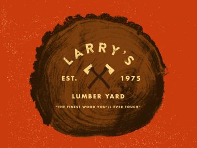 Larry's Lumber - Type 49 logo mixed type nature wood lumber typography texture type