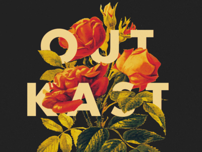 Outkast - Type 50 collage typography hidden type music outkast hip-hop flowers type