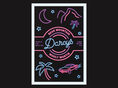 Darcy's Gig Poster