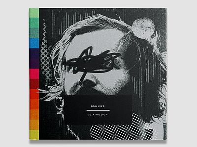 #10 Bon Iver - 22, A Million anxiety xerox grain texture retro music album cover vinyl album art bon iver