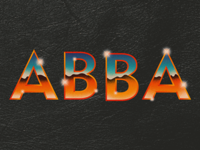 Long Live ABBA abba desert chrome 80s typography retro cheesy old school