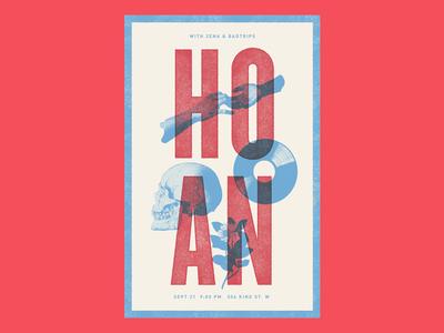Hoan Gig Poster hoan gig poster texture overprint halftone music rock indie skull