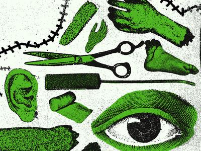 Frank surgery eye horror photocopy xerox grunge
