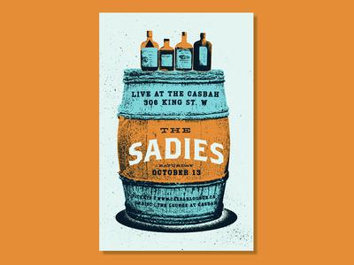 The Sadies texture music the sadies whiskey western barrel gig poster