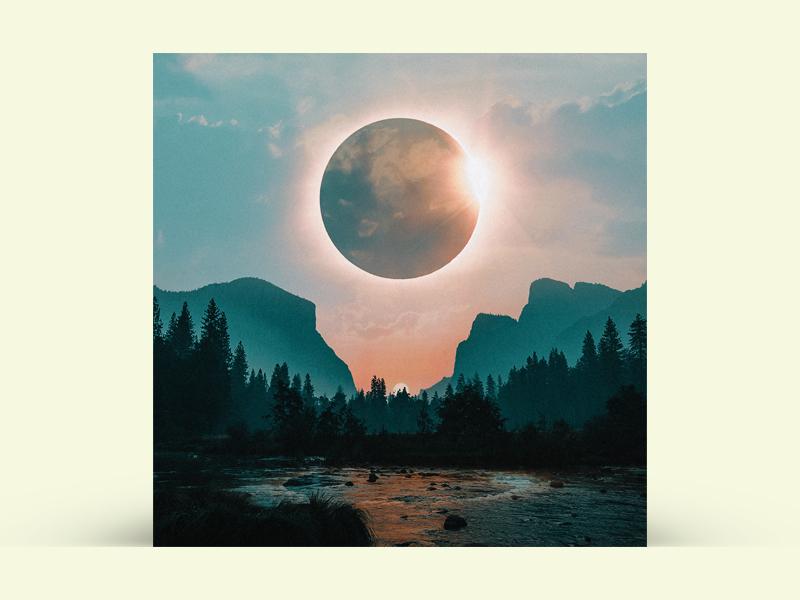 Album Cover photo manipulation surreal surrealism eclipse cover art album art