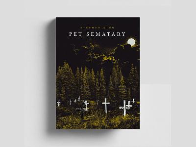 Pet Semetary - Stephen King stephen king forest graveyard horror book cover