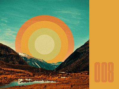 Everyday - 008 retro vintage shape colours landscape collage surreal