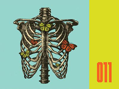 Everyday - 011 photo illustration butterflys ribcage bones everyday