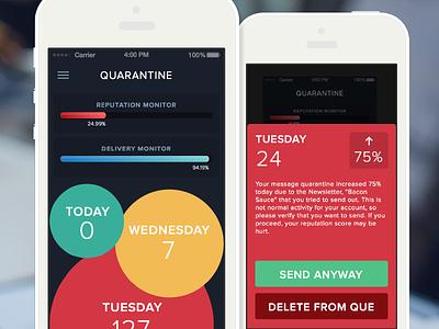 Quarantine App ios7 practice mobile app