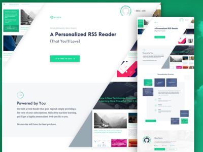 Winds RSS content personalization landing page feeds rss