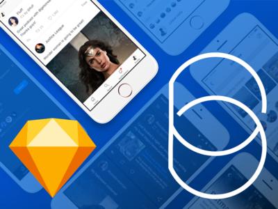 Based Mobile UI Kit for Sketch : Free