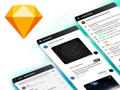 FREEBIE: Chat UI Kit freebie freebbble message app chat ui kit