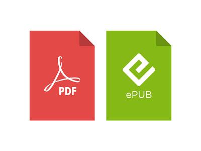 PDF & ePub vector logos book epub pdf readmill iphone android logo asset icon file