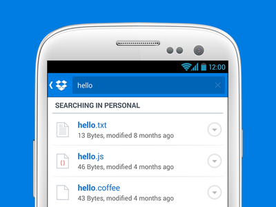 Dropbox for Android Search