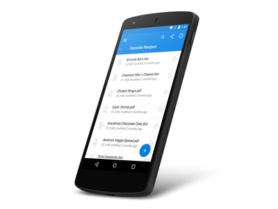 Dropbox for Android 3.0 cupcake ux ui material design dropbox android