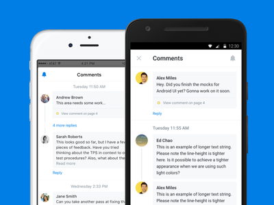 Dropbox Comments on Mobile file dropbox product design annotations android ios