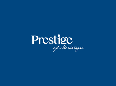 prestige of montenegro logo typography website vector minimal logo illustrator illustration design branding