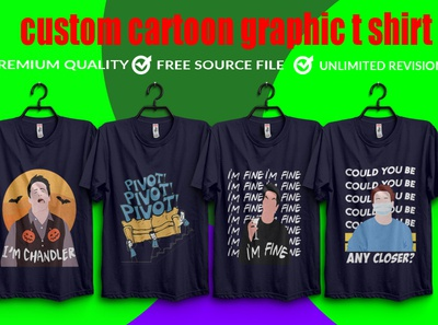 I will create custom cartoon graphic t shirt design illustration vector typography illustrator design