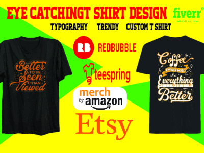 I will create eye catching t shirt designs for merch, printful a logo minimal illustrator design