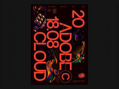 Identity . Adobe Creative Cloud 2018 poster render illustration identity graphic branding drag brand design creative cloud color brand adobe 3d