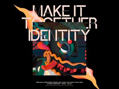 Identity . Adobe Creative Cloud 2018 render illustration design identity drag graphic brand color creative cloud adobe 3d