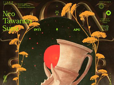 Neo Tawantin Suyo nature texture peru typography color editorial graphic design poster