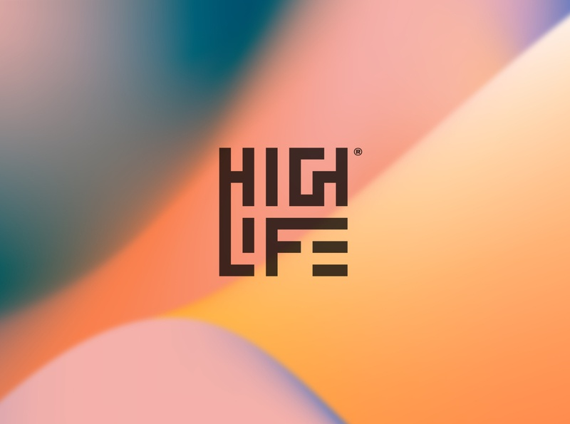 Highlife graphic design logotype iso gradients identity color branding logo