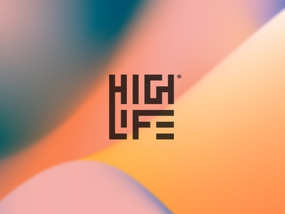 Highlife graphic design logotype iso gradients identity color branding logo