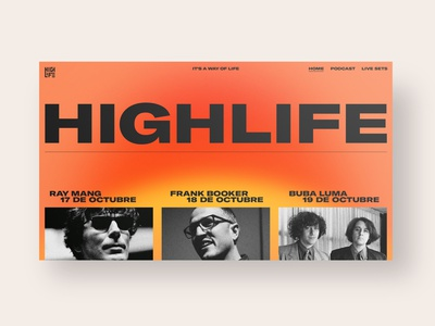 Highlife gradient lineup identity music logo festival color branding website web