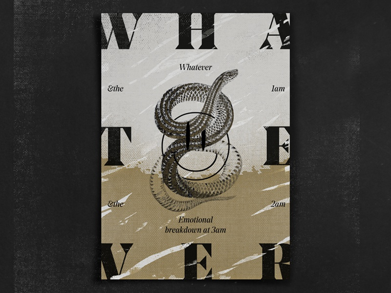 whatever typography layout 365 graphic design poster ever what