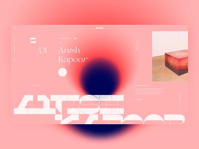 BioArt . Anish Kapoor layout biology ux ui color anish kapoor concept typography website web