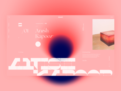 BioArt . Anish Kapoor layout biology ux ui color anish kapoor concept typography website web