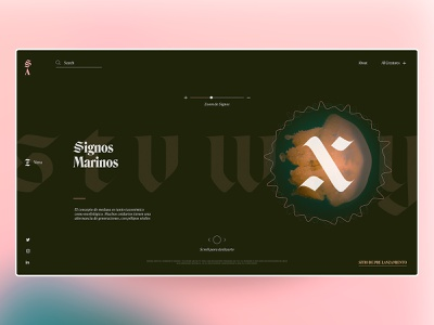 Fauna Abysal interface website web waves ux ui typograpy sound sea nature music graphic layout editorial concept color biology animal